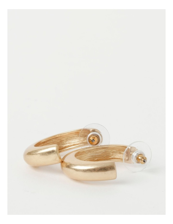 Molten Statement Gold Hoop Earrings image 3