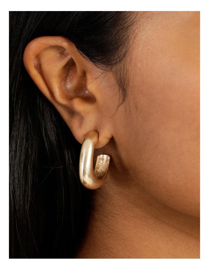 Molten Statement Gold Hoop Earrings image 5