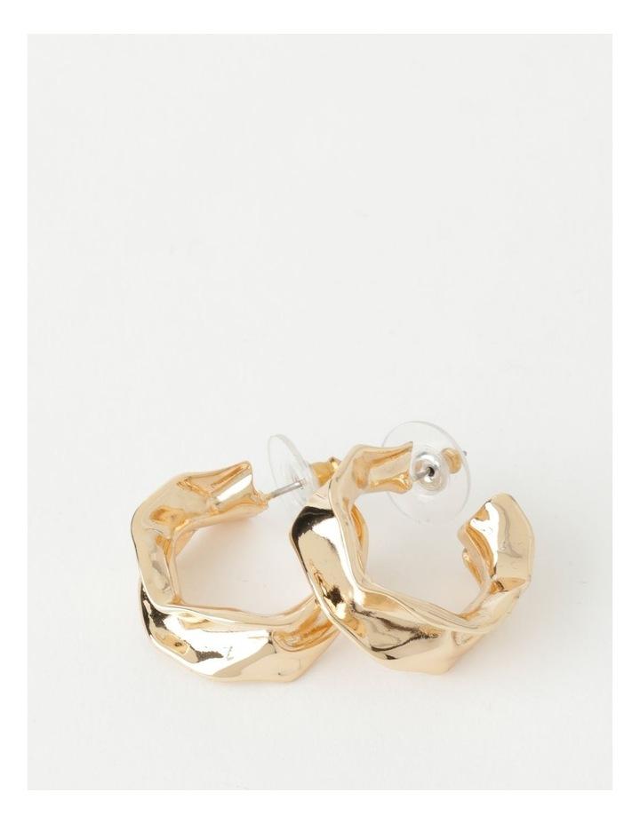 Sculptural Molten Gold Hoop Earrings image 1