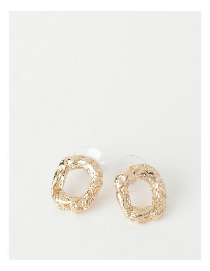Molten Charm Gold Stud Earrings image 1