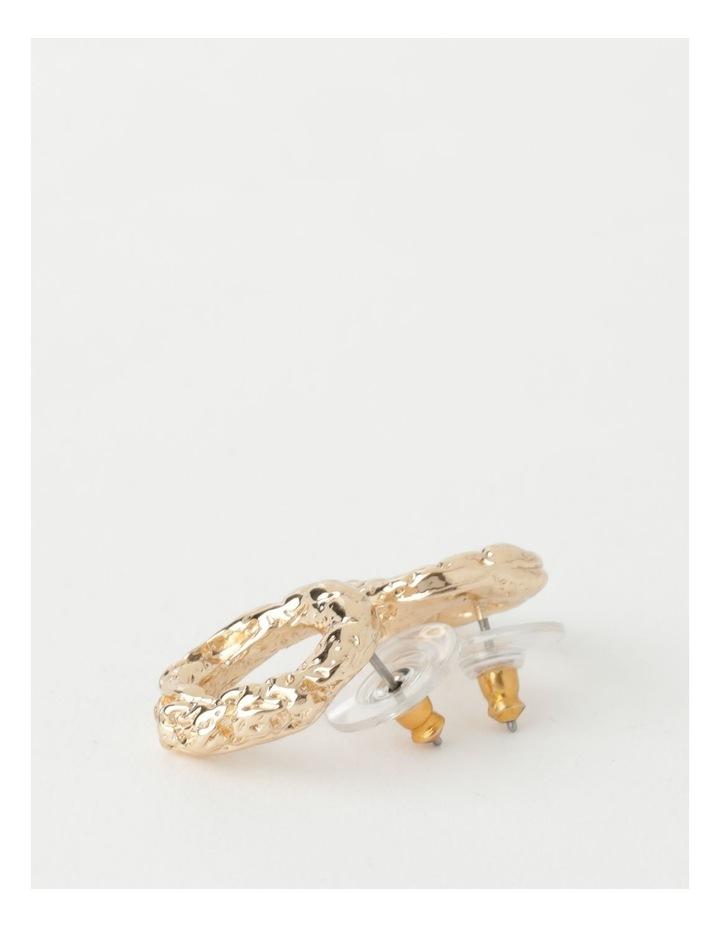 Molten Charm Gold Stud Earrings image 2