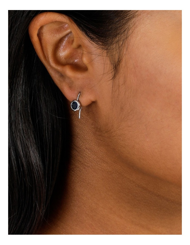 Round Crystal Drop Earring image 4