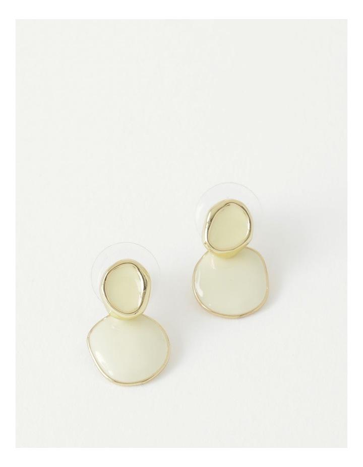 Enamel Disc Stud Earring image 1