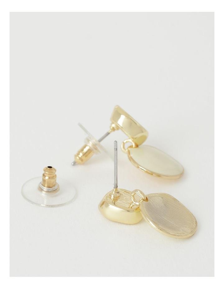 Enamel Disc Stud Earring image 2