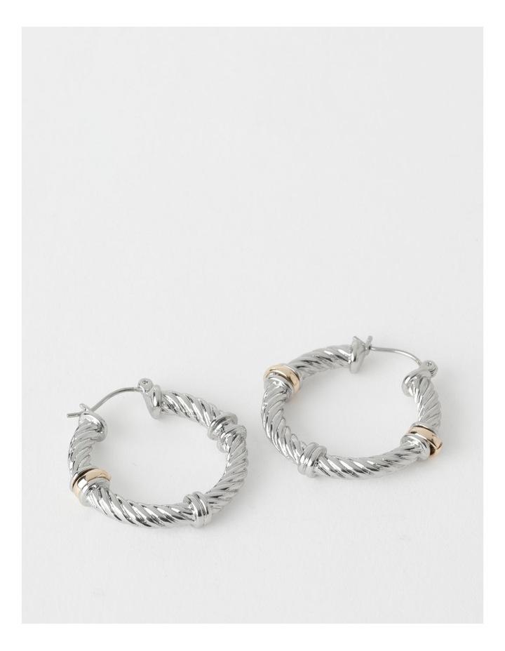 Twisted Metal Hoops Earring image 1