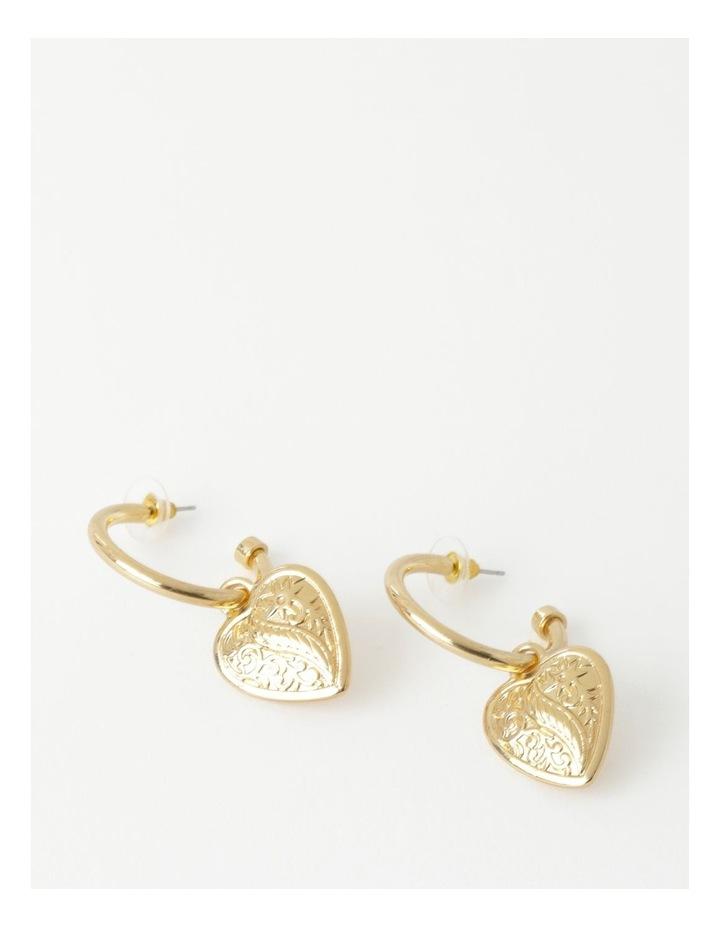 Filigree Heart Earring image 1