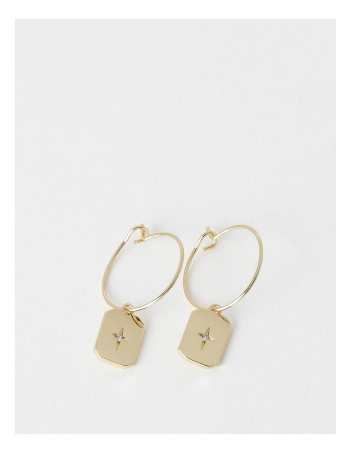 Star Charm Gold Drop Earring image 1