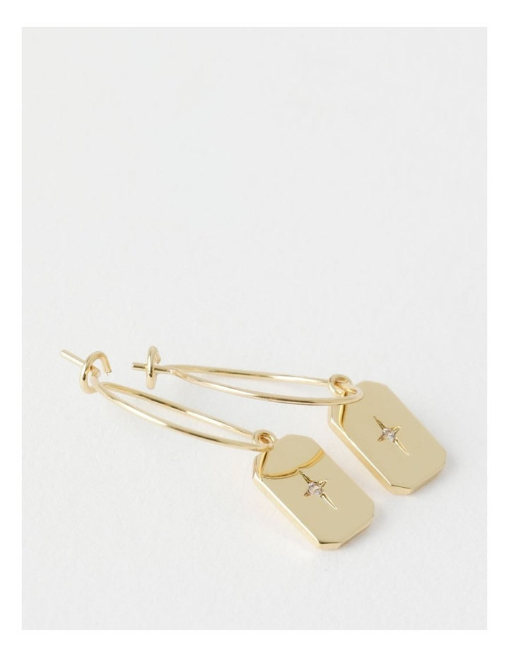 Star Charm Gold Drop Earring image 2
