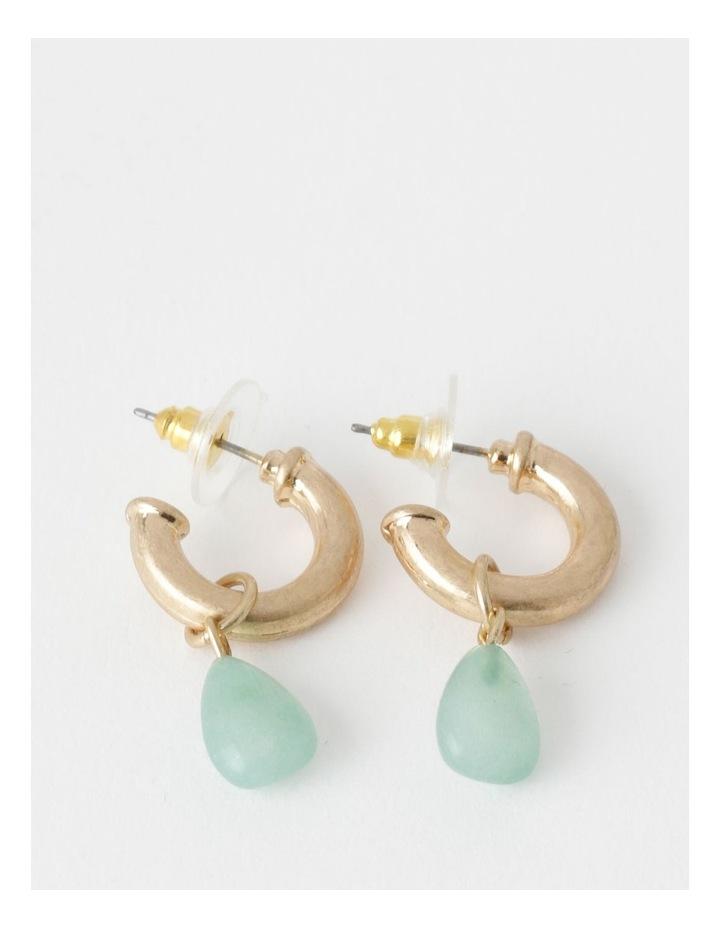 Stone Drop Gold / Mint Earring image 1