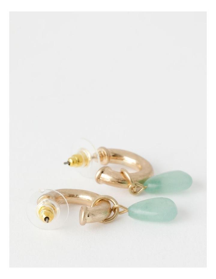 Stone Drop Gold / Mint Earring image 2
