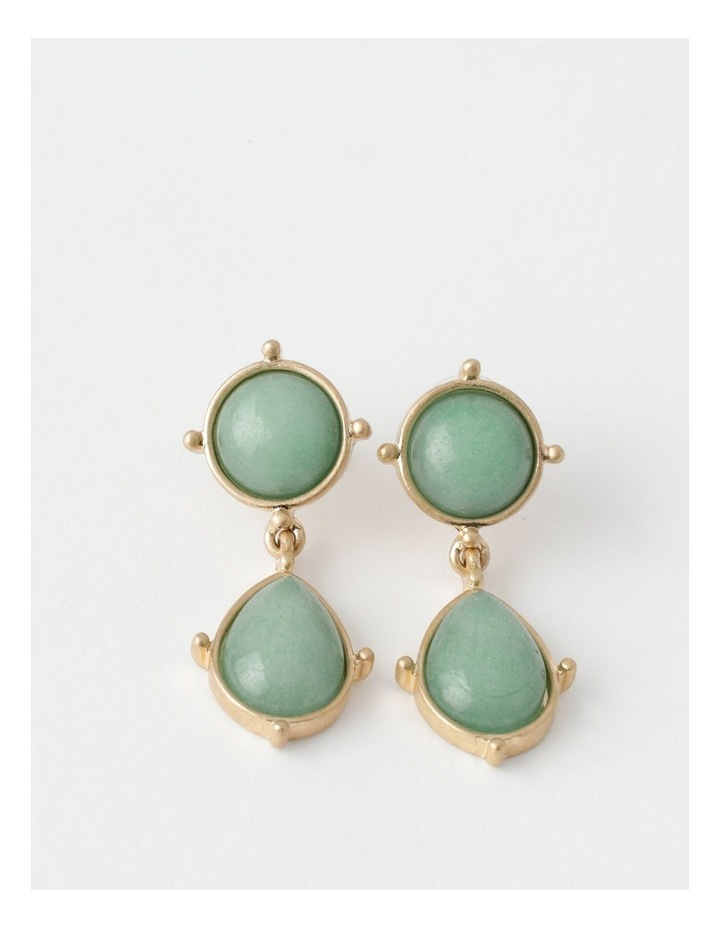 Statement Stone Gold / Mint Earring image 1
