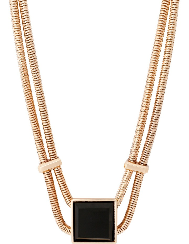WCHSS17NL6 Raised Square Collar Necklace image 1