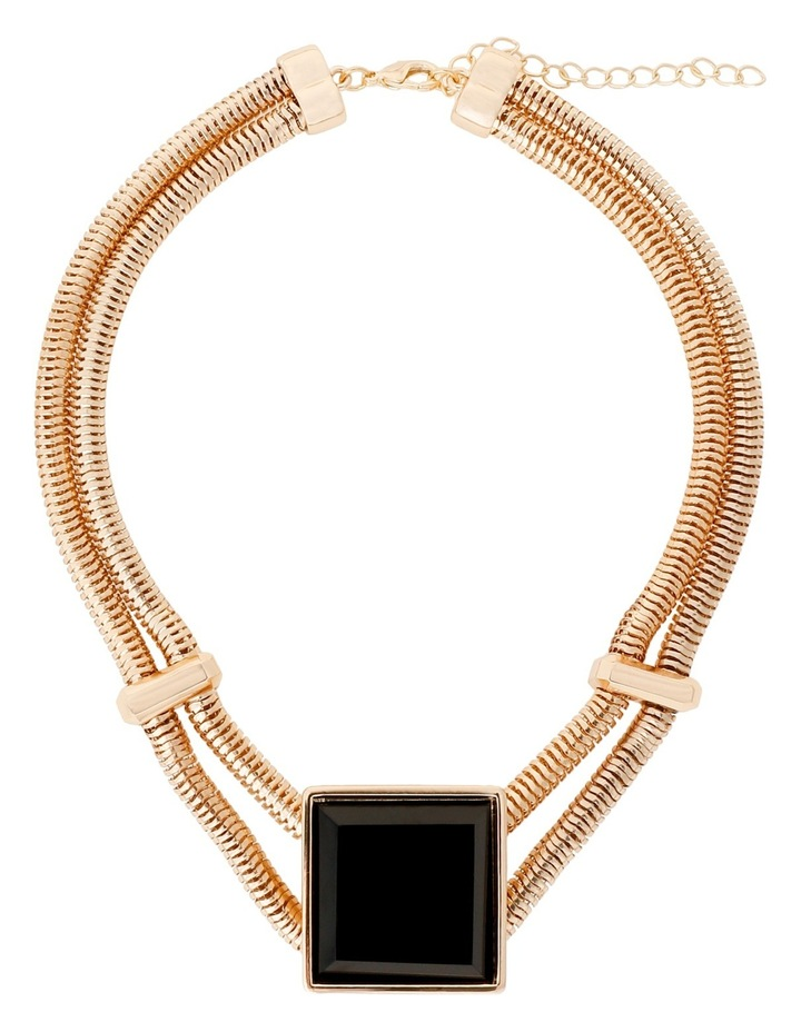 WCHSS17NL6 Raised Square Collar Necklace image 2