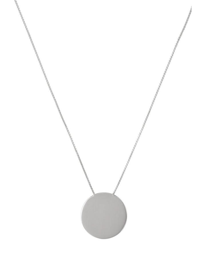 A66310BA Core Minimalist Solid Circle Pendant in Rhodium image 1