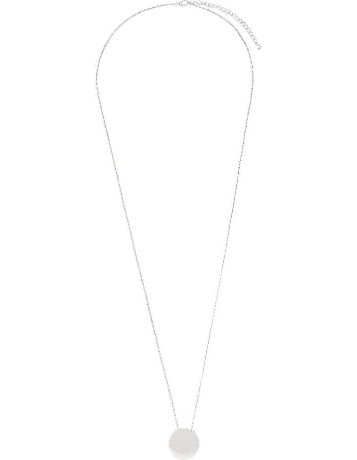 A66310BA Core Minimalist Solid Circle Pendant in Rhodium image 2