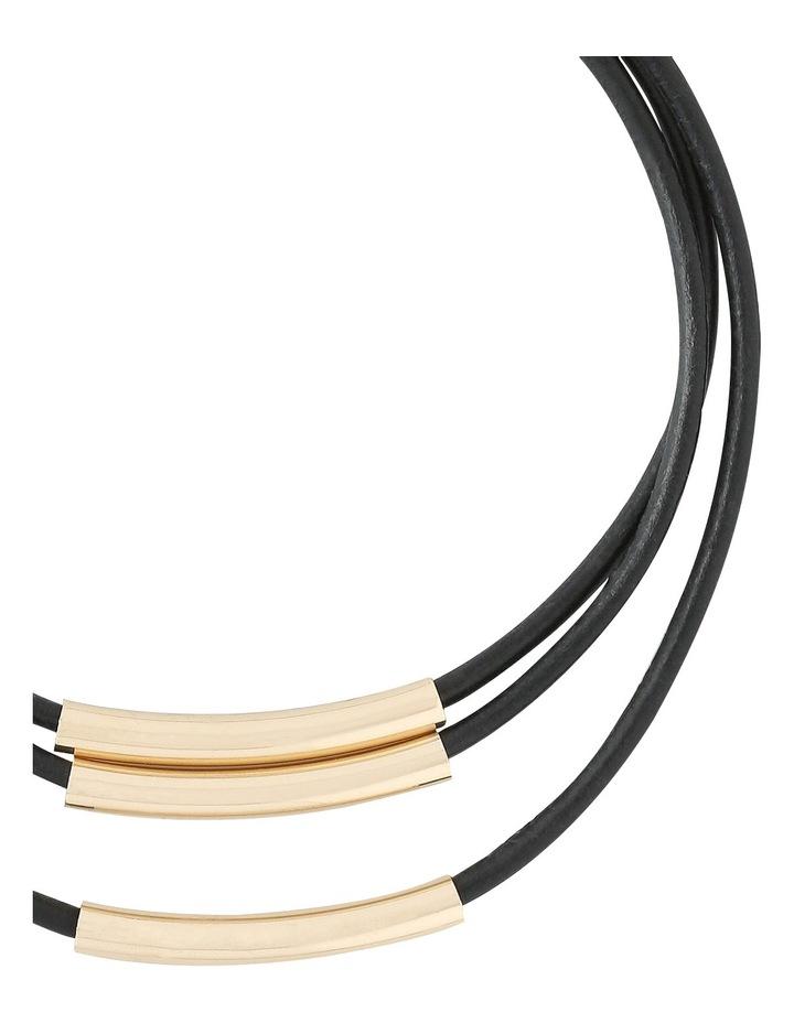 A67106BA Core Minimalist Waxed Cord Multi Layer Choker in Gold image 2