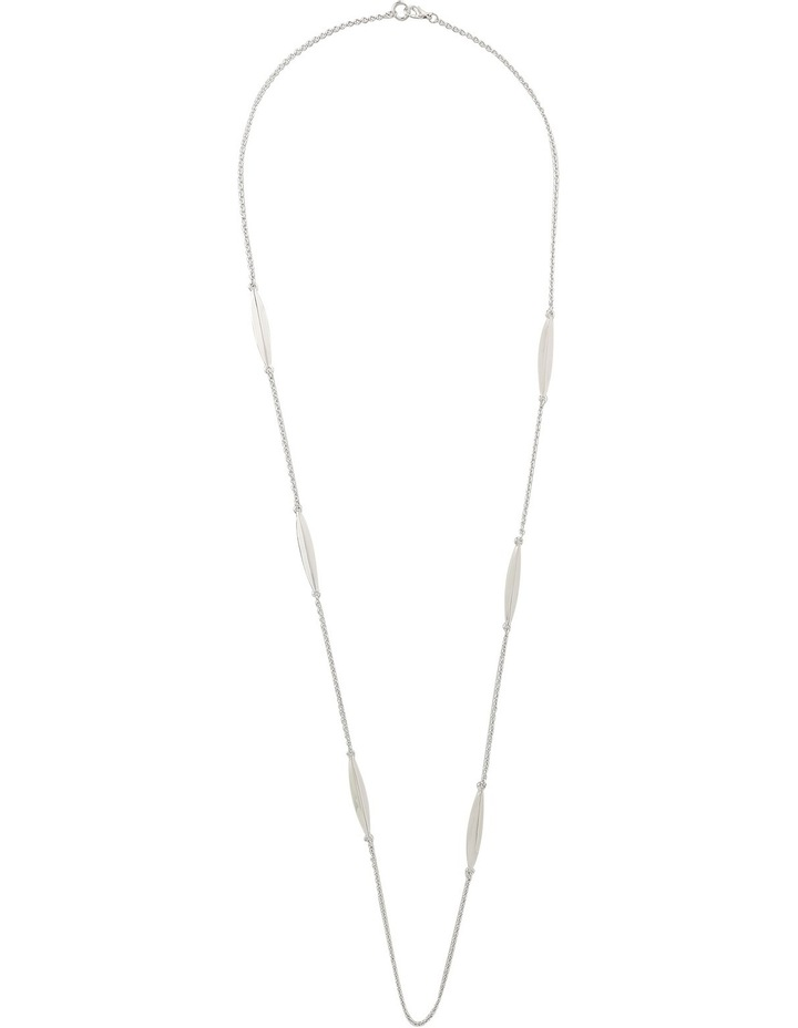 A66313BA Core Minimalist Metal Station Long Necklace in Rhodium image 2