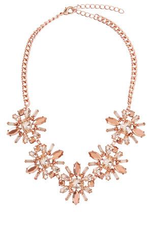 Wayne Cooper - WCHSS17NL84 Floral Gem Clusters Necklace