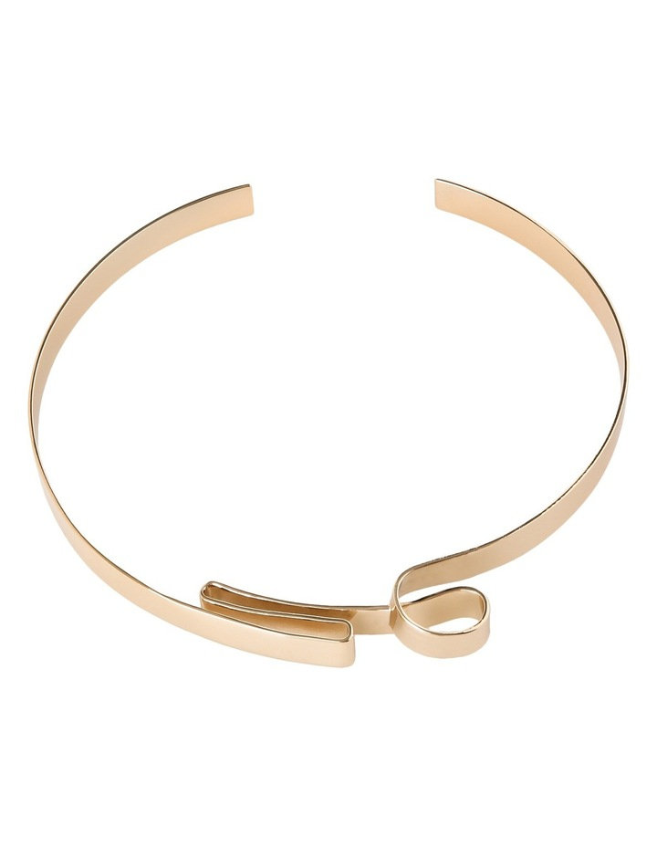 WCGEW17NL17 Sculptural Metal Ribbon Collar Necklace image 1