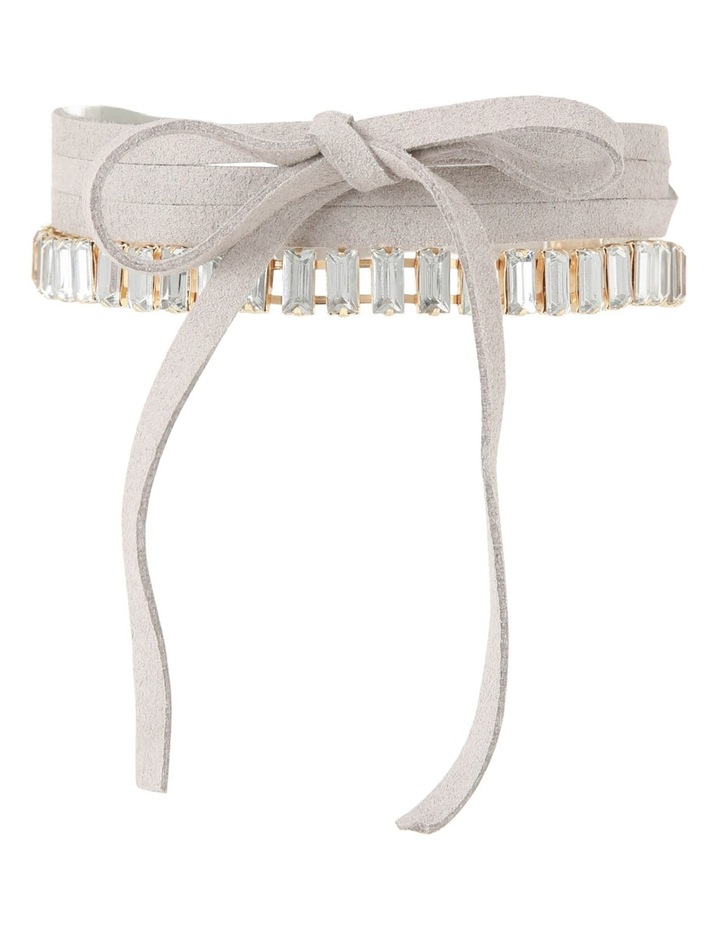 Basque A68195BA Choker Collective A- Clear Crystal Grey Suedette Choker image 1
