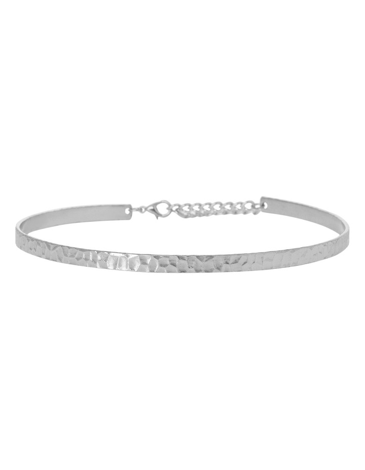 Basque A68197BA/RHODIUM Choker Collective A- Textured Solid Choker Rhodium image 1