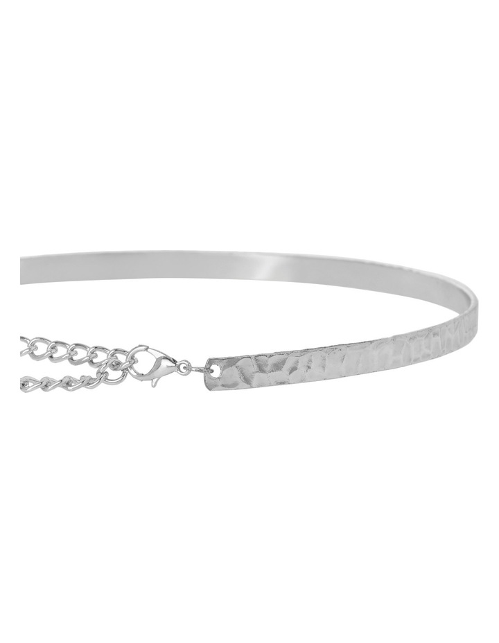 Basque A68197BA/RHODIUM Choker Collective A- Textured Solid Choker Rhodium image 2