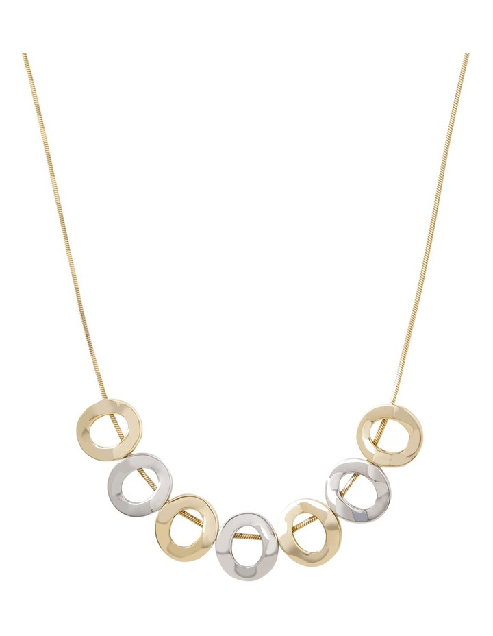 Short Necklace With Hollow Hoops image 1