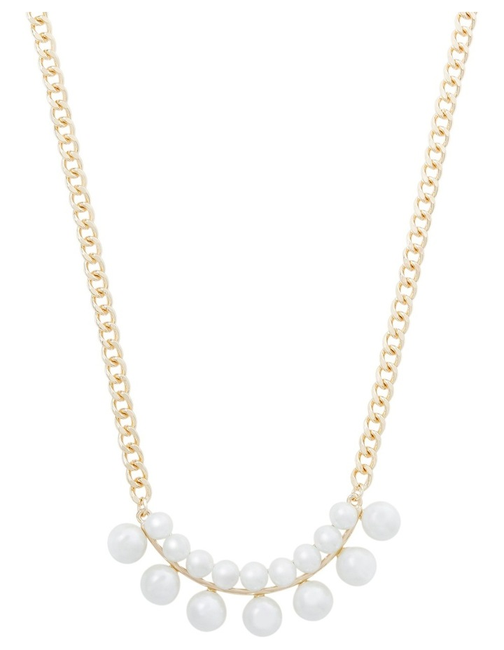 Double Pearl Chain Statement Necklace image 1