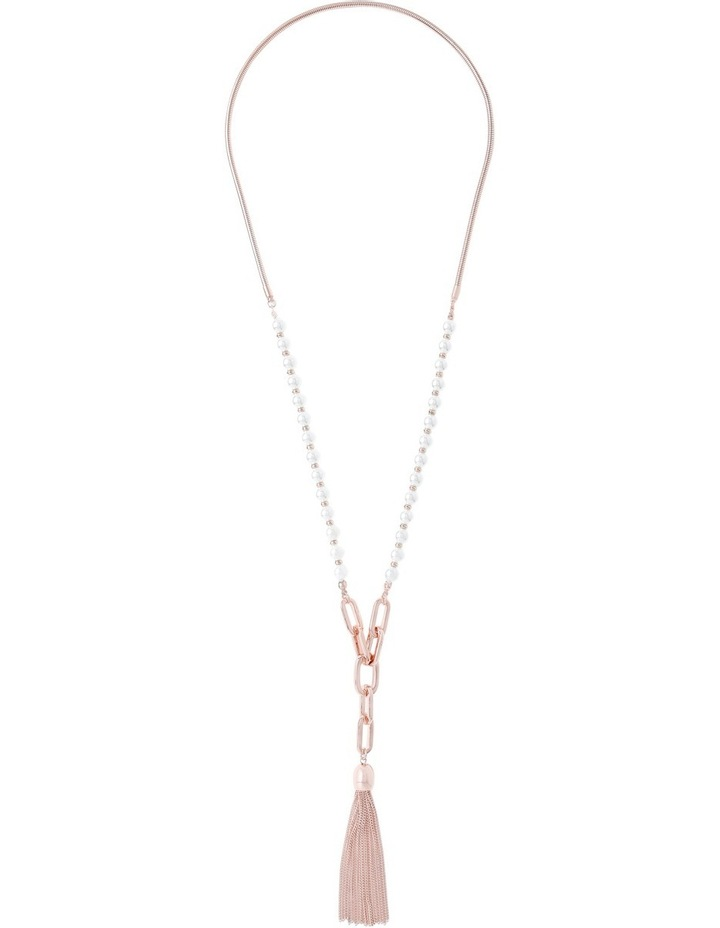 Bead   Chain Tassel Necklace image 2