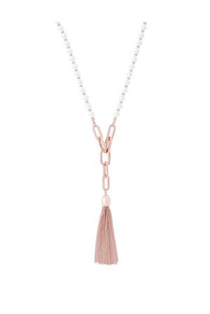 Piper - Bead + Chain Tassel Necklace