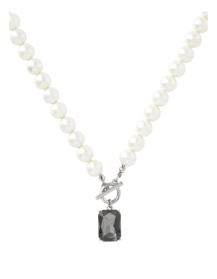 Pearl And Crystal Short Neck With Toggle Clasp image 1