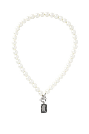 Trent Nathan - Pearl And Crystal Short Neck With Toggle Clasp TNJHW18NL116