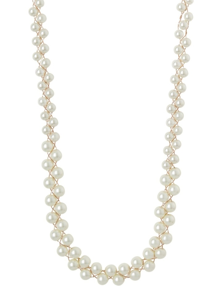Long Pearl Cluster Necklace image 1
