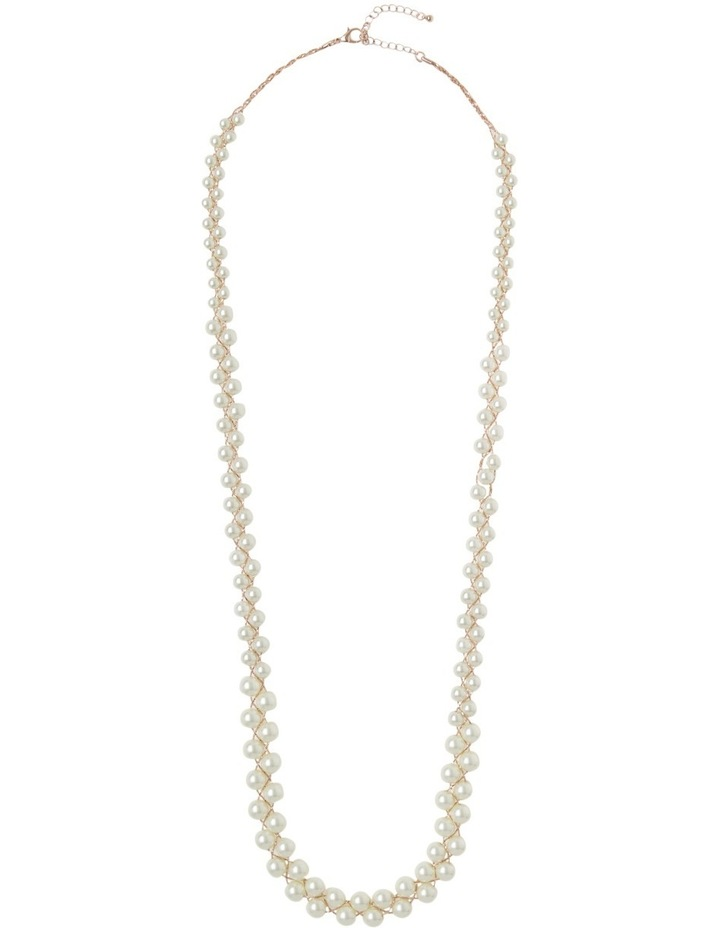 Long Pearl Cluster Necklace image 2
