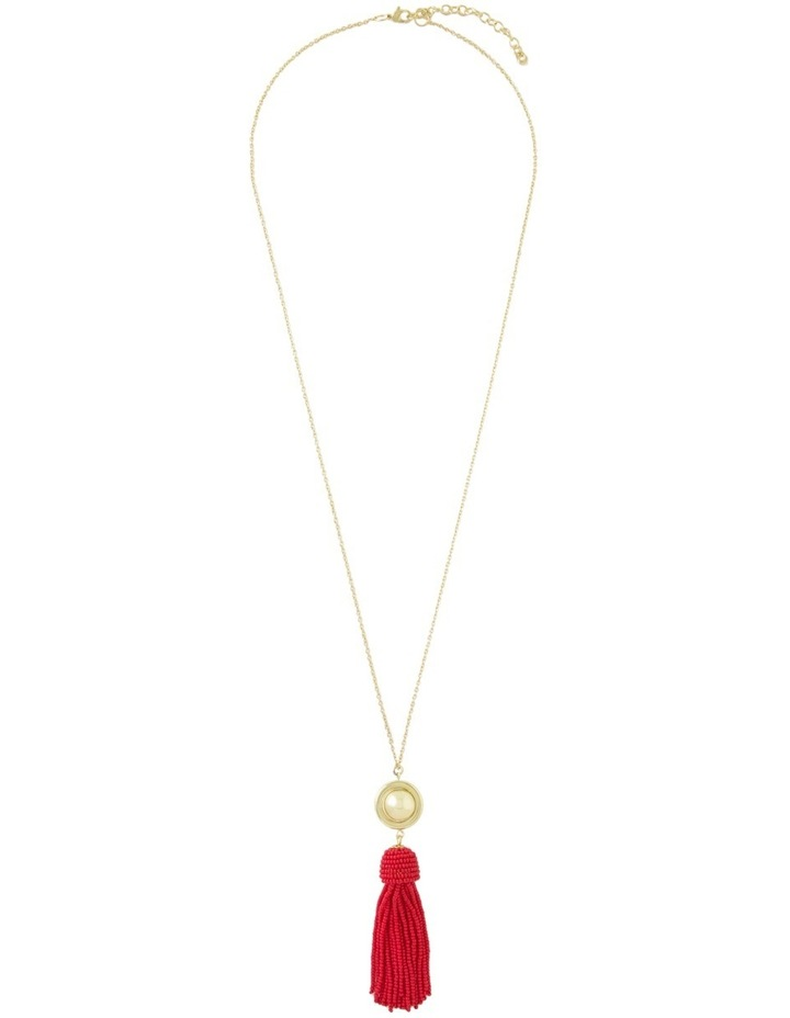 Luxe Tassel Pendant Soft gold red image 2