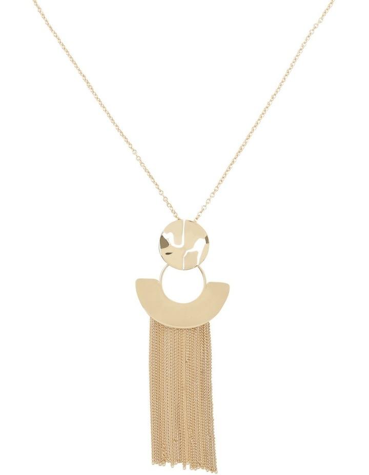 Beaten Geo & Tassel Necklace image 1