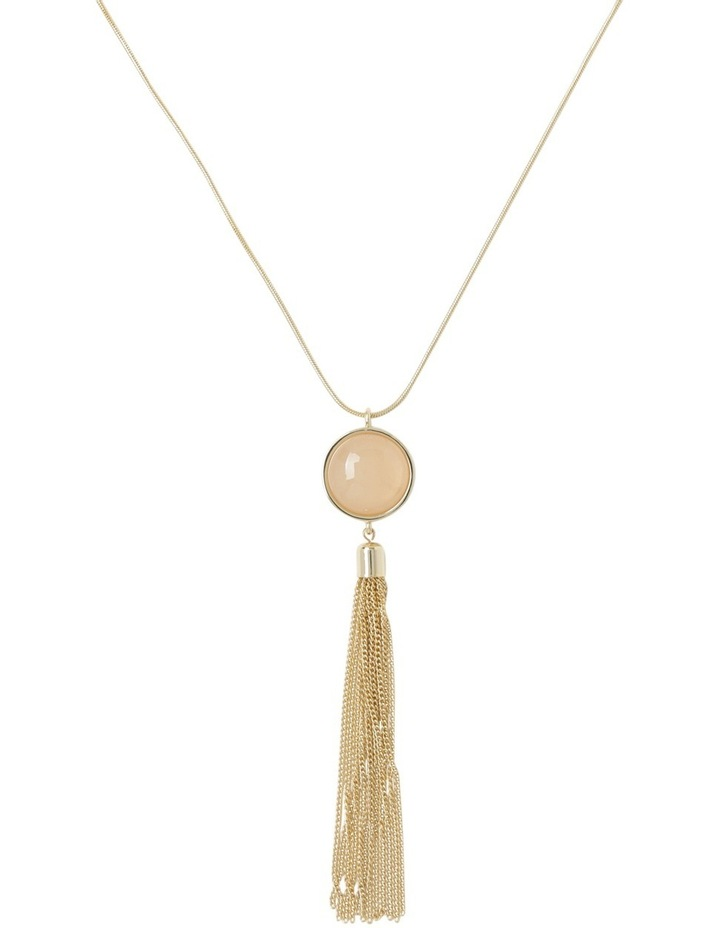 Long Pendant with Circle and Tassel image 1