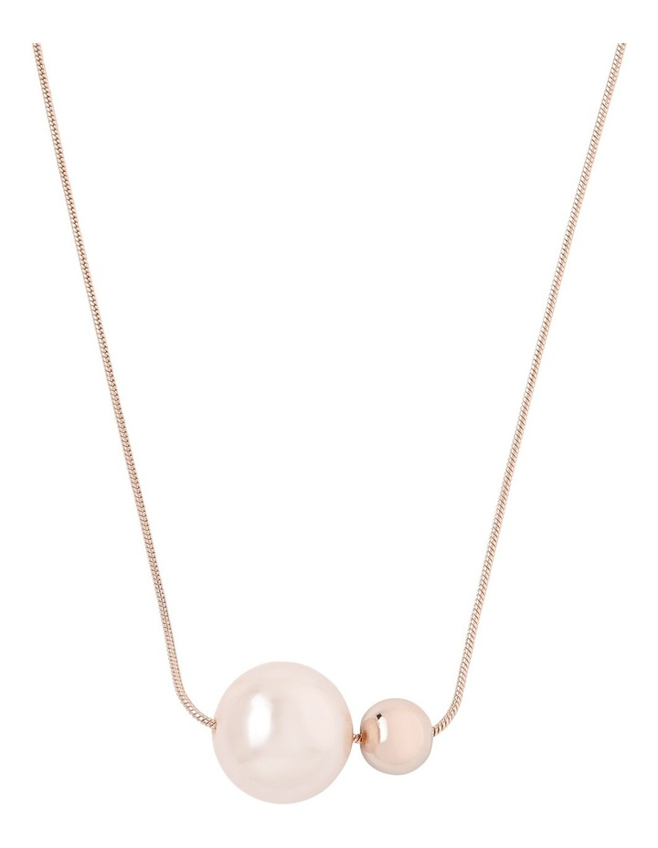 Ivory Pearl Look and Ball Necklace image 1