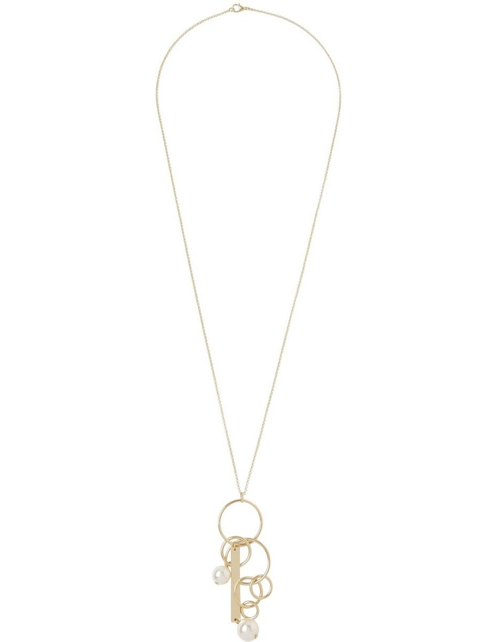 Hoop and Pearl Pendant Necklace image 2