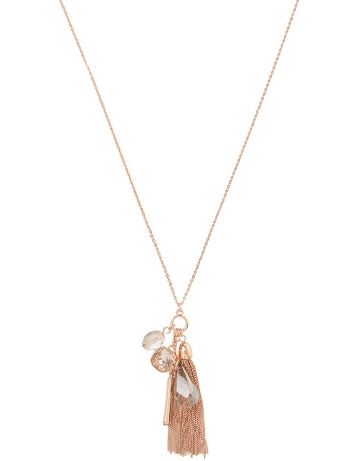Occasion Crystal Tassle Pendant Necklace image 1