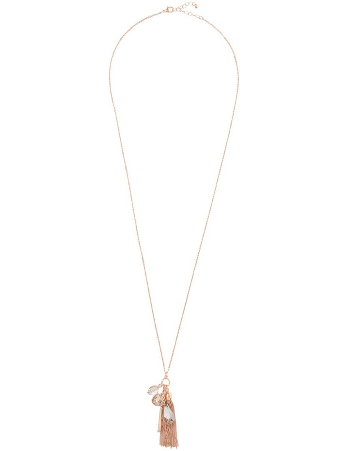 Occasion Crystal Tassle Pendant Necklace image 2