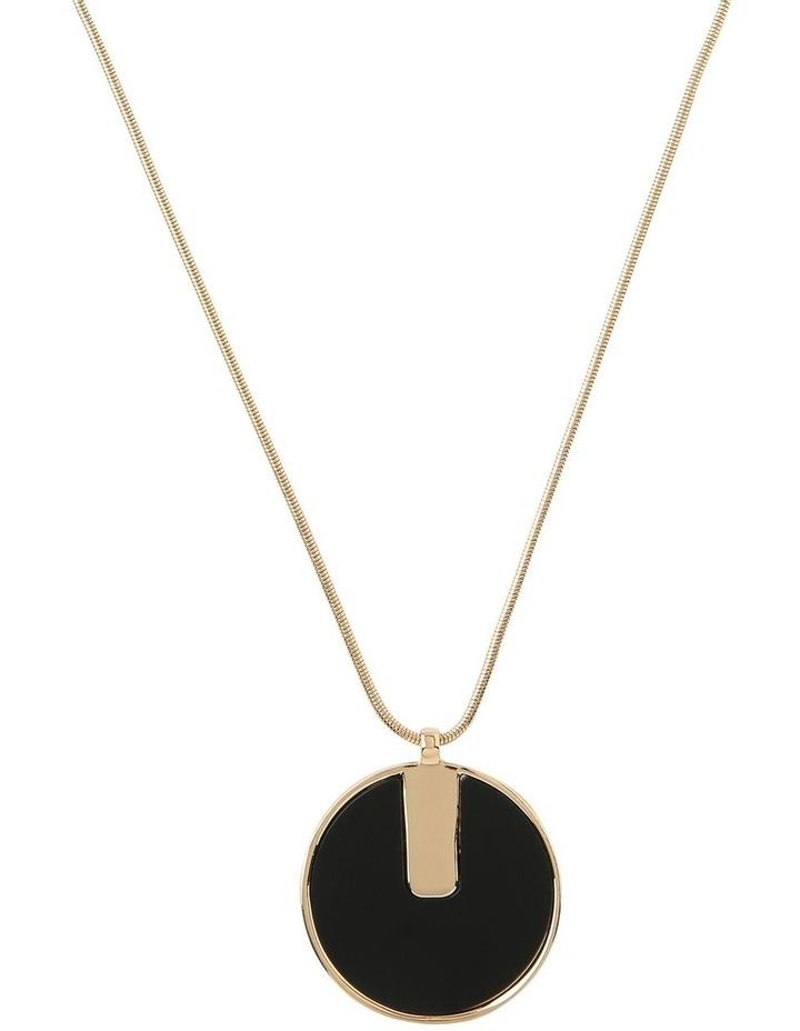 Black and Gold Circle Pendant image 1