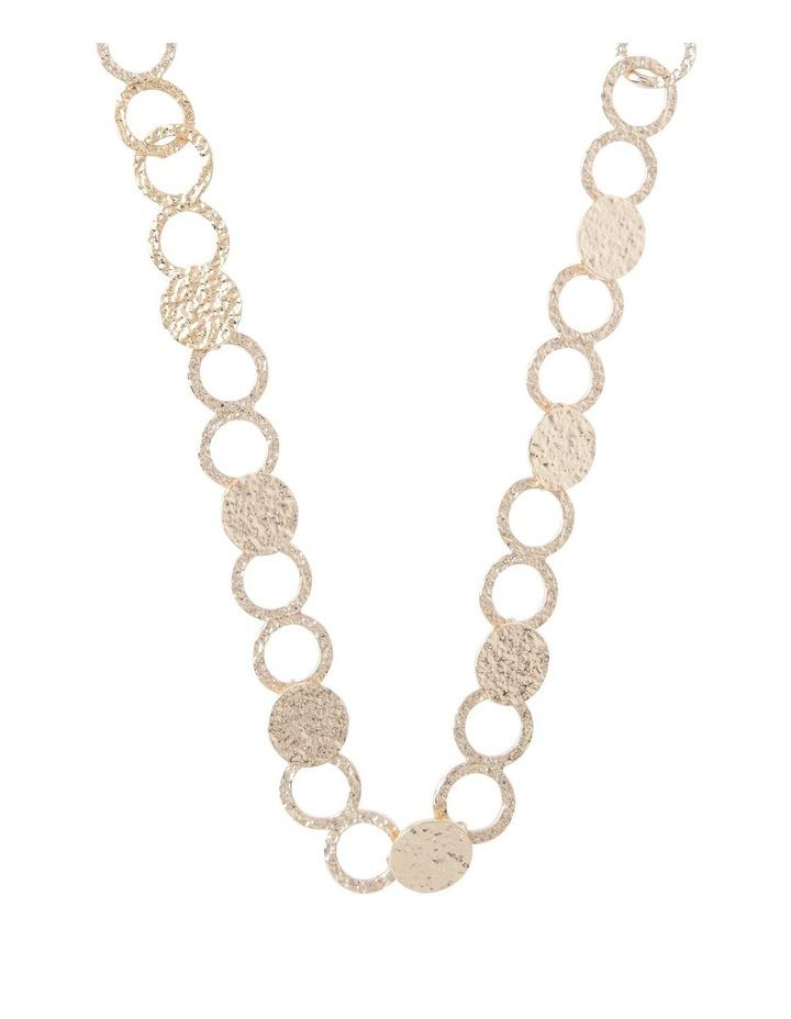 Ringed Metallic Long Necklace image 1