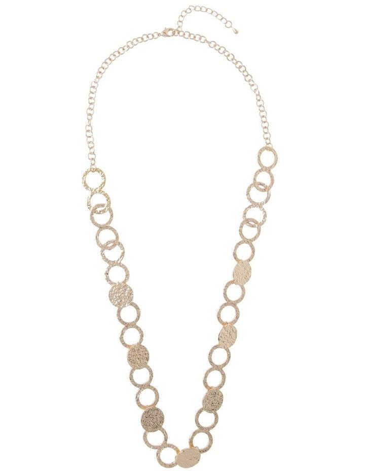 Ringed Metallic Long Necklace image 2