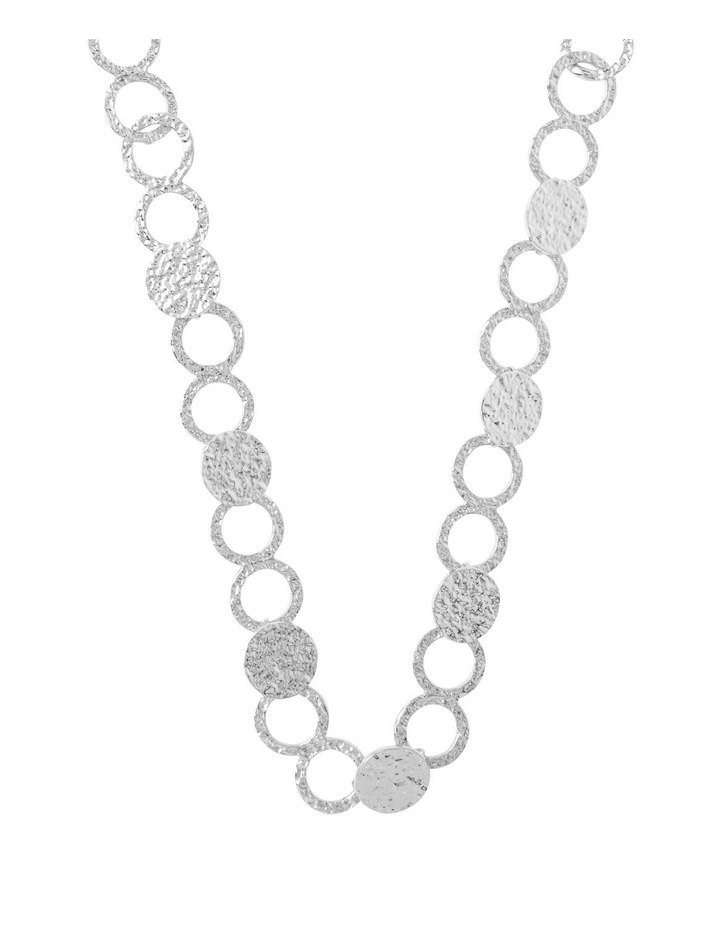 Ringed Metallic Long Necklace image 1