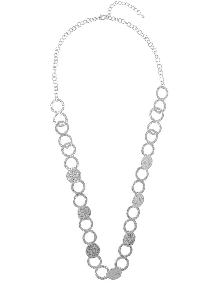 Ringed Metallic Long Necklace image 2