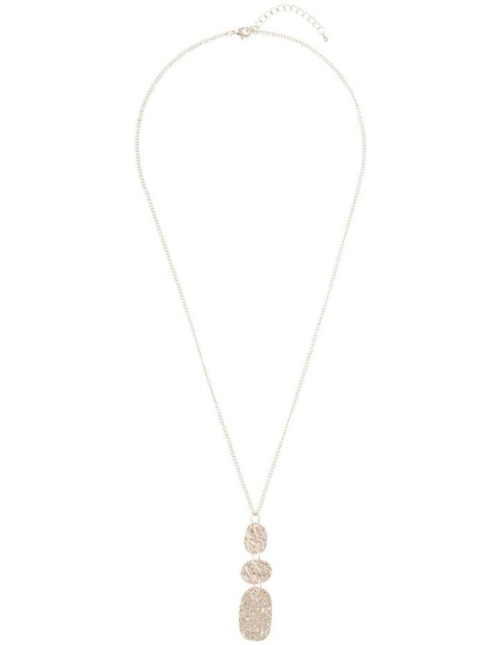 Ringed Metallic Pendant Necklace image 2