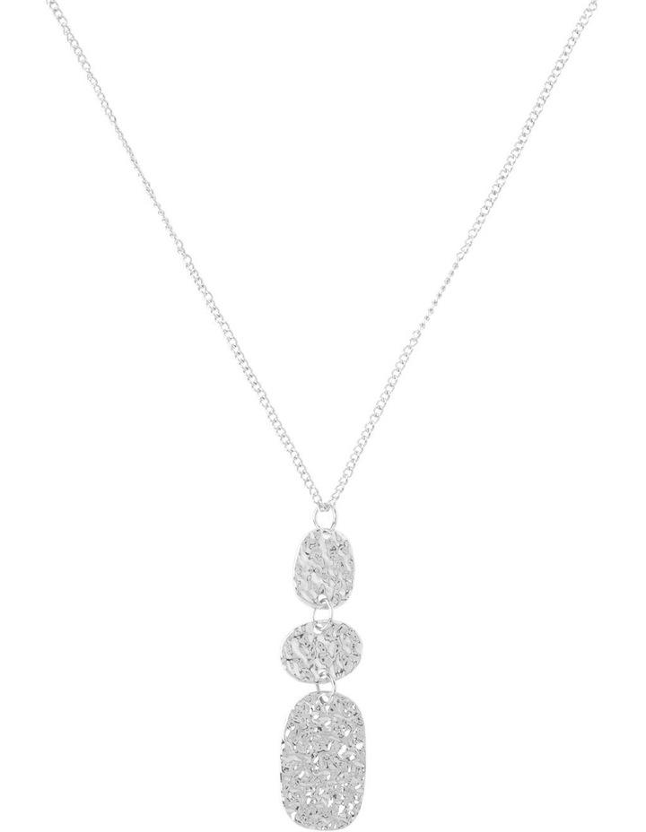 Ringed Metallic Pendant Necklace image 1