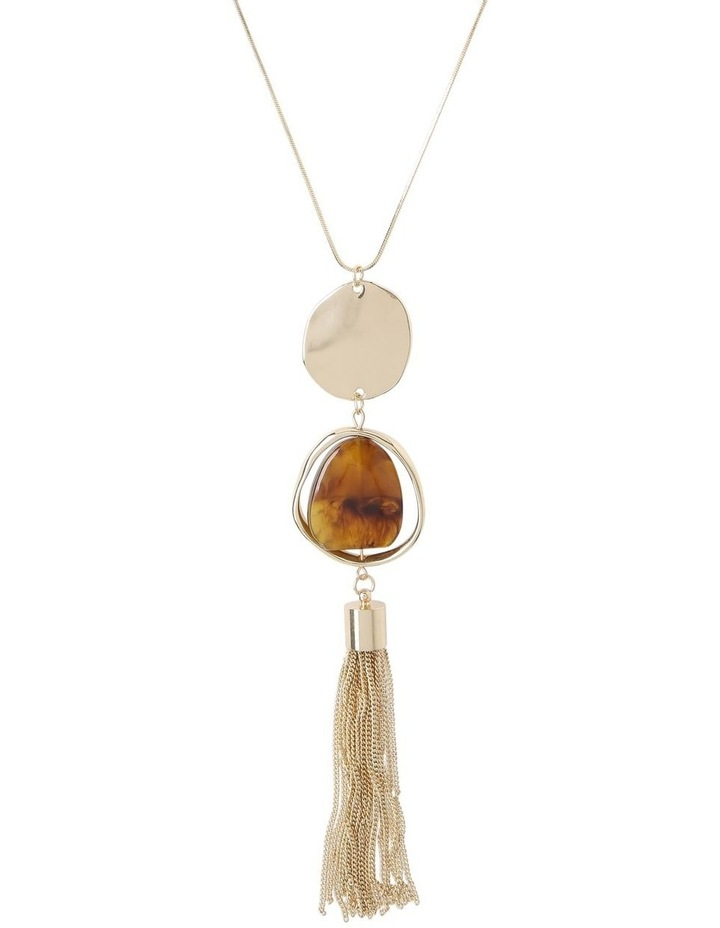 Tassel Trim Pendant Necklace image 1