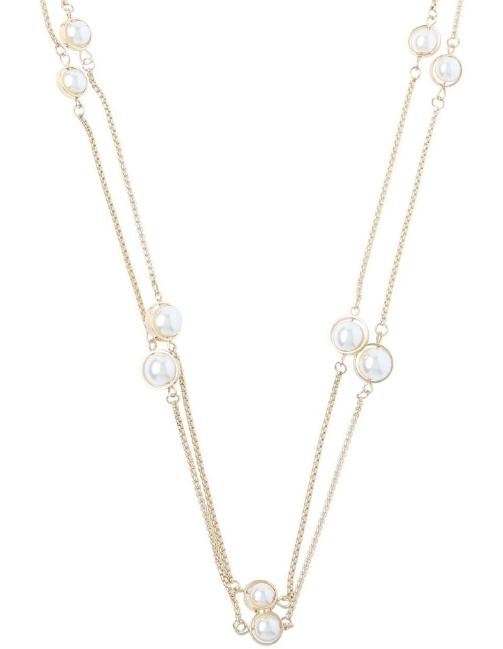 Station Necklace With Pearls image 1